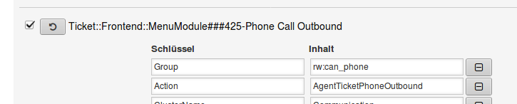 Sysconfig-Option Ticket::Frontend::MenuModule###425-Phone Call Outbound